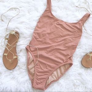 J. Crew Nude One-Piece Swimsuit